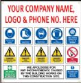 x10 Site Safety Signs, 1000mm x 1000mm............... CLICK HERE TO FIND OUT MORE